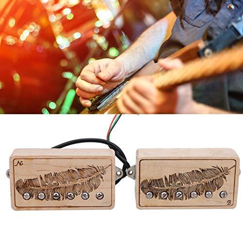 Lazimin Pastilla, Arce AlNiCo5 Accesorios para Instrumentos Musicales con Tornillo de Ajuste de Altura y Resorte para Guitarras eléctricas
