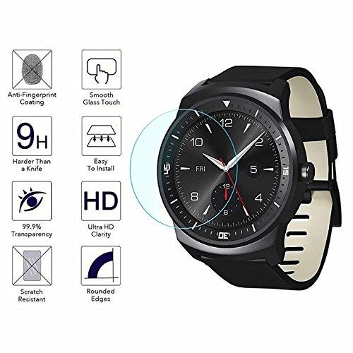 YANSHG® Für LG G Watch R Watch gehärteter Glasschutz, Anti-kratzen Ultra Clear 9 Uhr gehärtetem Glas Protektor