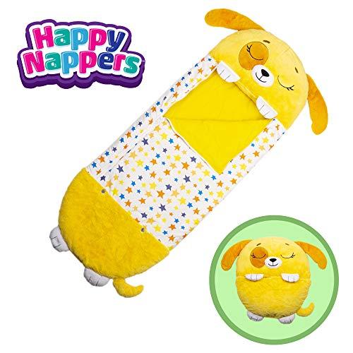 "Happy Nappers Pillow & Sleepy Sack- Comfy, Cozy, Compact, Super Soft, Warm, All Season, Sleeping Bag with Pillow- Medium 54"" x 20"", Dog"