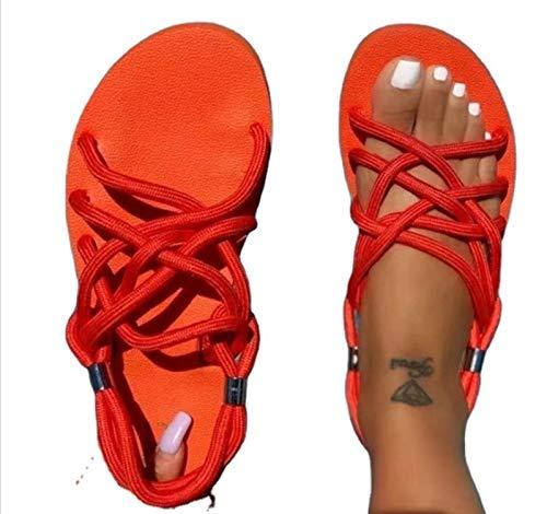 HSY SHOP Chanclas para Mujer Colchoneta de Yoga para Mujer Sandalias cómodas de Tanga para Caminar con Soporte para Arco de Fascitis Plantar Resbalón en Interiores y Exteriores para Verano