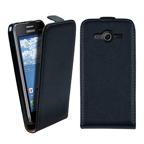 kwmobile Hülle kompatibel mit Samsung Galaxy Core II Duos - Handy Case Handyhülle - Flip Schutzhülle in Schwarz