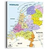 REINDERS Wandbild Deco Panel Landkarte Niederlande Holland