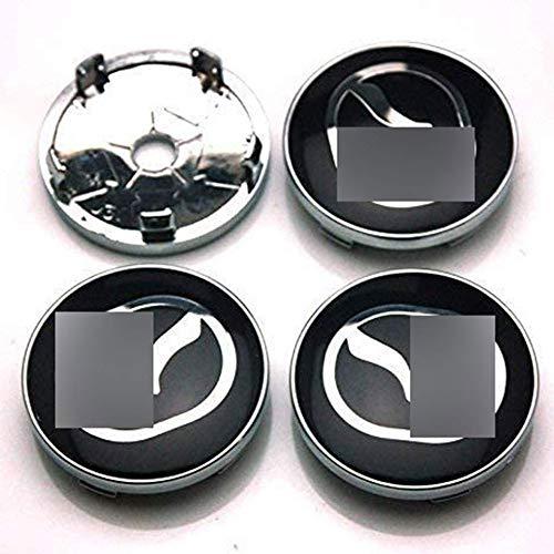 JYEBJD 4 Pezzi Cappucci Centrali delle Ruote Adesivo Distintivo 3D per Mazda 2 3 6 CX-5 CX-7 CX-8, Coperture Antipolvere per Ruote Cover con Stemma Distintivo Adesivi Logo Wheel Trim Accessori, 60MM