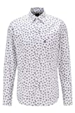 BOSS Relegant_2 10232604 01 Camisa, Natural101, XL para Hombre