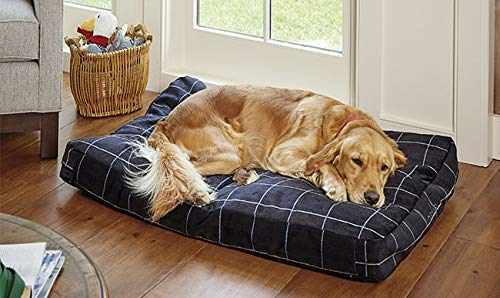 Orvis Toughchew Comfortfill-eco Platform Dog Bed/Large Dogs 60-90 Lbs, Taupe, Large
