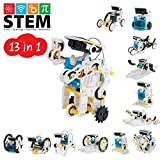 Onshine Solor Robots Kit 13 in 1 Educational Learning Science STEM Toys Kits,261 Pieces Working Solar Powered DIY Assembly Creation Building Robot Kit for Kids 10-12 Year olds and Up Boys Girls Teens
