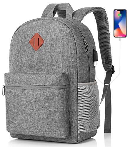 MARYARM Rucksack Herren und Damen,Schulrucksack Jungen Teenager Schultasche Mädchen für Universität Business Städtetrip,USB Ladeanschluss mit RFID Schutz