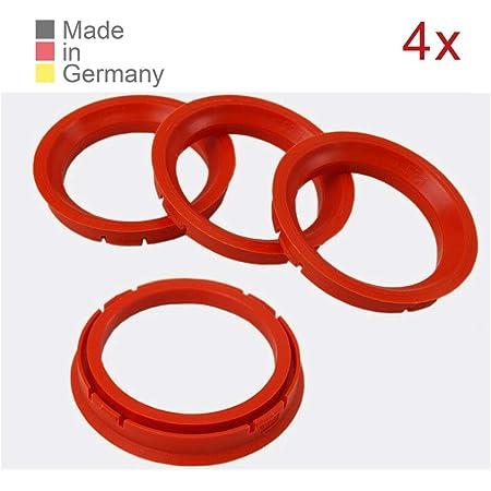 Konikon 4x Zentrierringe 73 0 X 57 1 Mm Rot Felgenringe Adapterringe Für Verschiedene Felgen Passend Für Mercedes Benz Audi Vw Seat Skoda Auto