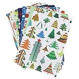 8 Piezas de Color Mezclado Suave No Tejido, Hojas de Tela de Fieltro Diy Costura Muñeca Artesanía Cuadrados decoración, árbol de Santa Claus, 1,8 * 7,9 Pulgadas