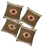 Handicraft Bazarr - Juego de 4 fundas de cojín para sofá o...
