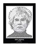 Original Andy Warhol Quotes Poster. Andy Warhol Print made from Andy Warhol quotes! Warhol Wall Art. Home Decor. Print. 24'x 30' (unframed)