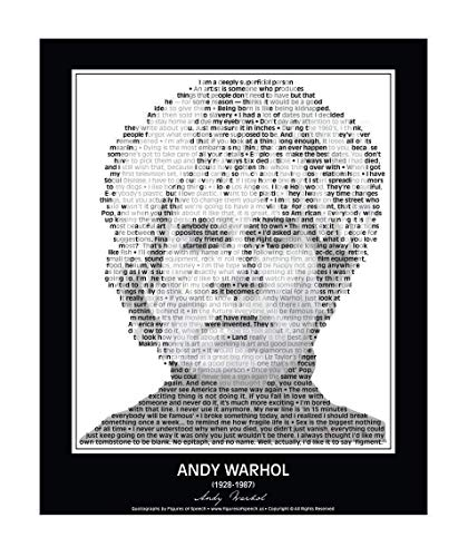 Original Andy Warhol Quotes Poster. Andy Warhol Print made from Andy Warhol quotes! Warhol Wall Art. Home Decor. Print. 24