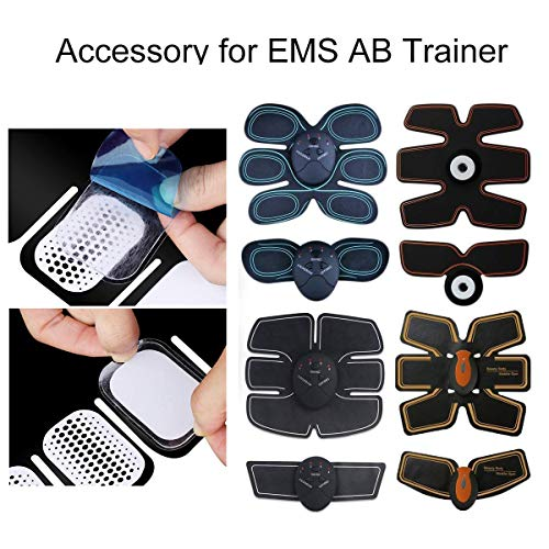 OSELEE 60PCS Abs Trainer Gel Pads, Replacement Gel Sheet Stimulator for Abs Toner Abdominal Workout Toning Belt Muscle Toner Pads