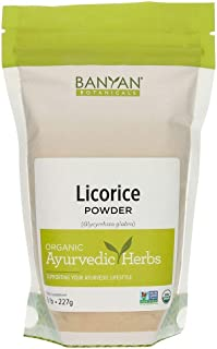 Banyan Botanicals Licorice Root Powder, 1/2 Pound - USDA Organic - Glycyrrhiza glabra - Ayurvedic Herb for Lungs, Skin, & ...