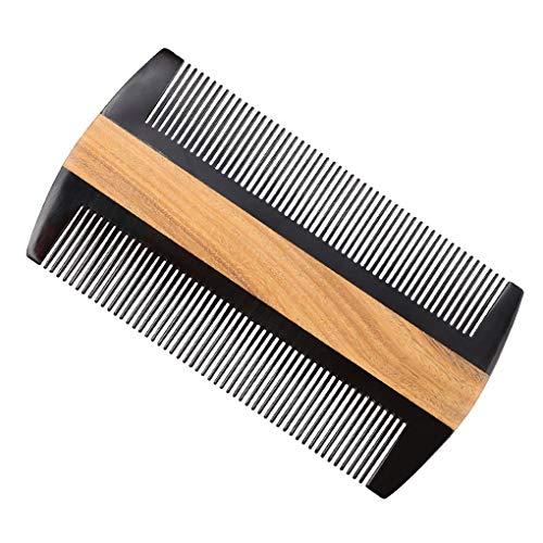 YUYAXPB Vintage haarkam, brede tandkam, perfect voor krullen van natuurhout, draagbare zakkam voor haarverzorging, antistatische kam