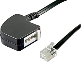 Wentronic 68584 TAE Adapter, TAE-F-Buchse > RJ11/RJ14-Stecker (6P4C), 0,2 m, schwarz