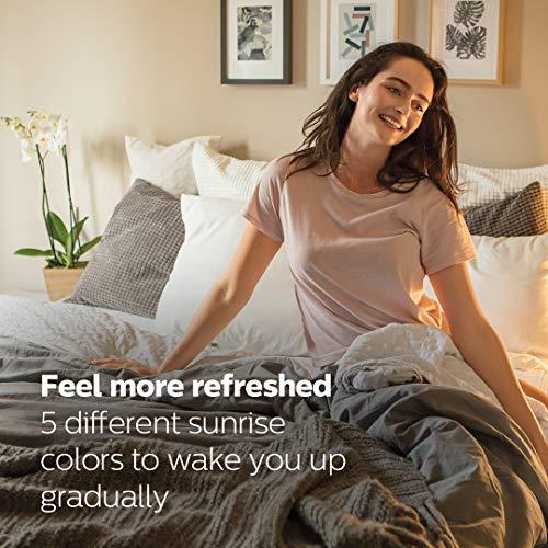Amazon Exclusive Philips HF3650/60 SmartSleep Sleep and Wake-Up Light, Simulated Sunrise and Sunset, Multiple Lights and Sounds, RelaxBreathe to Sleep