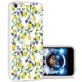 iPhone 5c Case Cool Cute,ChiChiC 360 Full Protective Anti Scratch Slim Flexible Soft TPU Gel Rubber Clear Cases Cover with Design for iPhone 5c,Yellow Purple Flower on White