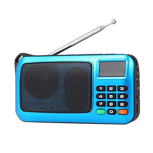 A/N Radio Portátil USB Altavoz De La Computadora con Conexión De Cable De Alta Fidelidad Estéreo Receptor De Radio De FM Linterna W405 Portátil para La Cocina De La Oficina En Casa