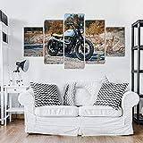 Gxucoa Stampe E Quadri su Tela Moderna del Salone 5 Pezzi Murale Stampa Poster Parete Regalo Creativo Arte Pittura Moto Triumph Bonneville