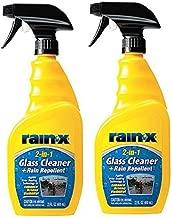Rain-X 5071268 2-in-1 Glass Cleaner and Rain Repellant - 23 oz., 2- Pack