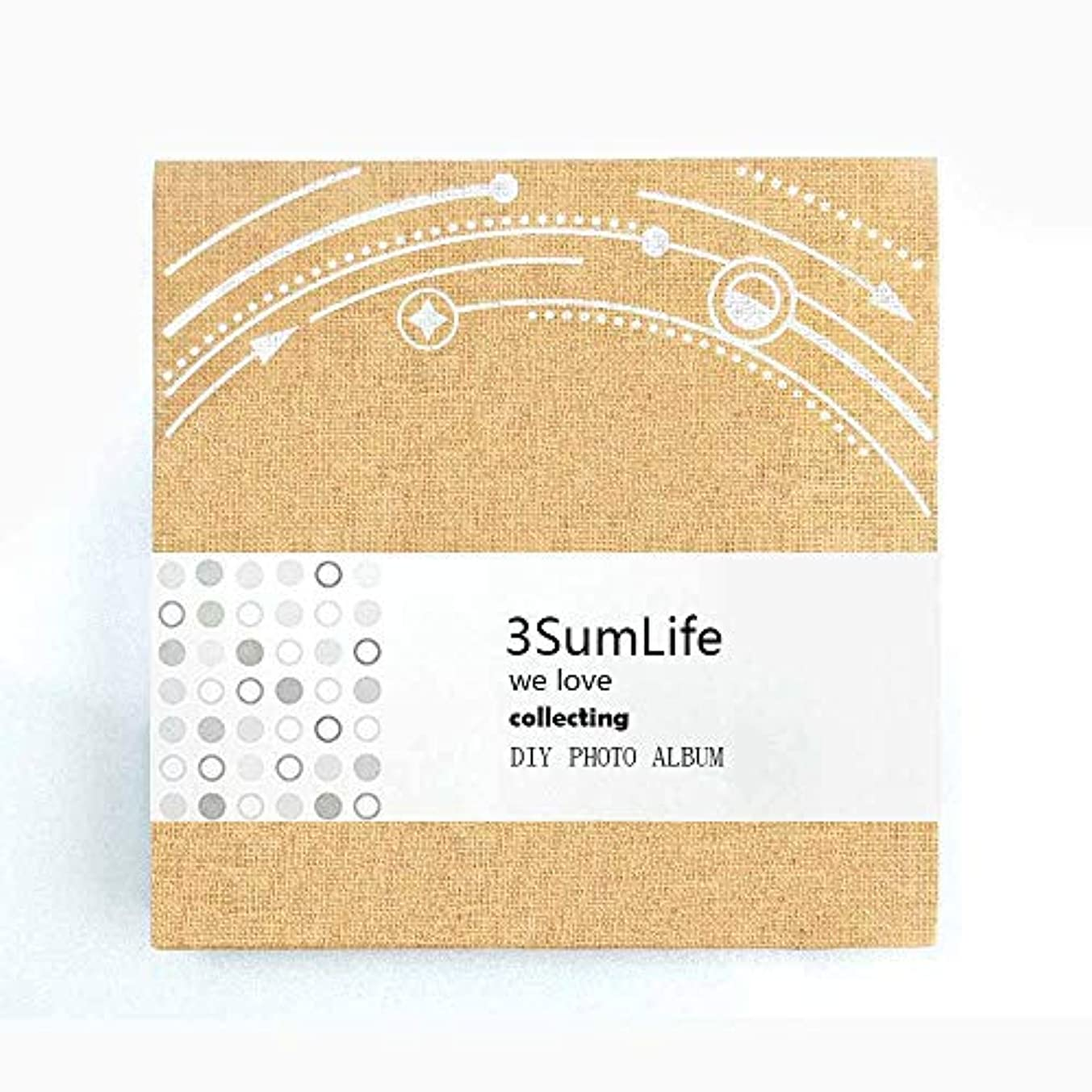 3SumLife Scratbook Linen Photo Album Mini Polaroid Photo Album with Accessories for Christmas Wedding Valentines Day Birthday Anniversary Gift and More (Yellow)