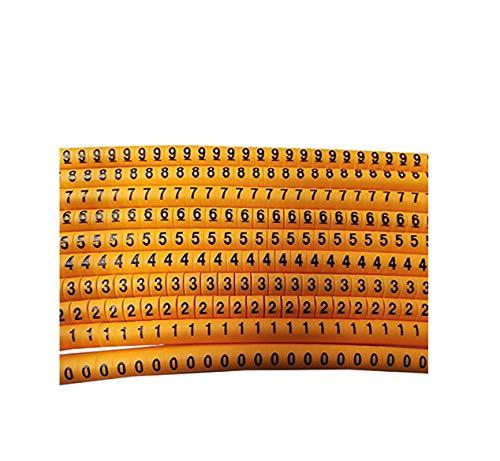 Lote de 200 Marcadores Flexibles Cable Marcador PVC de 0