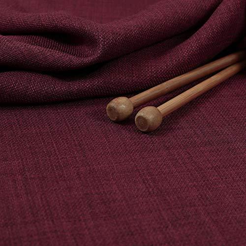 New Furnishing Fabrics Tessuto Morbido e Leggero, Tinta Unita, per Arredamento, Tende, Cuscini, Colore Vinaccia e Prugna, Ciniglia, Wine, 10cm x 8cm Sample