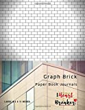 Graph Brick Paper Book Journals: Graph Papers Notebook With A Brick Layout For Stitch In Beading or Pattern Design Other Crafts, Large 8.5' x 11' (Series 15)