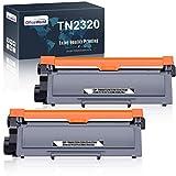 OfficeWorld TN2320 TN2310 Reemplazo para Brother TN-2320 TN-2310 Cartucho de tóner para Brother HL-L2300D HL-L2320D HL-L2340DW HL-L2360DN HL-L2360DW HL-L2365DW MFC-L2700DW DCP-L2500D (2 Negro)