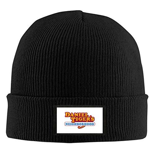 Da-Niel Ti-Ger'S Logo Adult Men Women Unisex Knitted Cap Winter Outdoor Warm Knit Hat Beanies Skull Hat Black