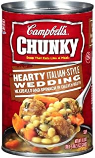 Campbell's Chunky Hearty Italian Style Wedding Soup 18.8 Oz (Pack of 3)