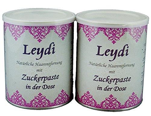 2x 1000g Leydi Zuckerpaste in der Dose - Nachfüllset für Sugaring und Haarentfernung zu Hause