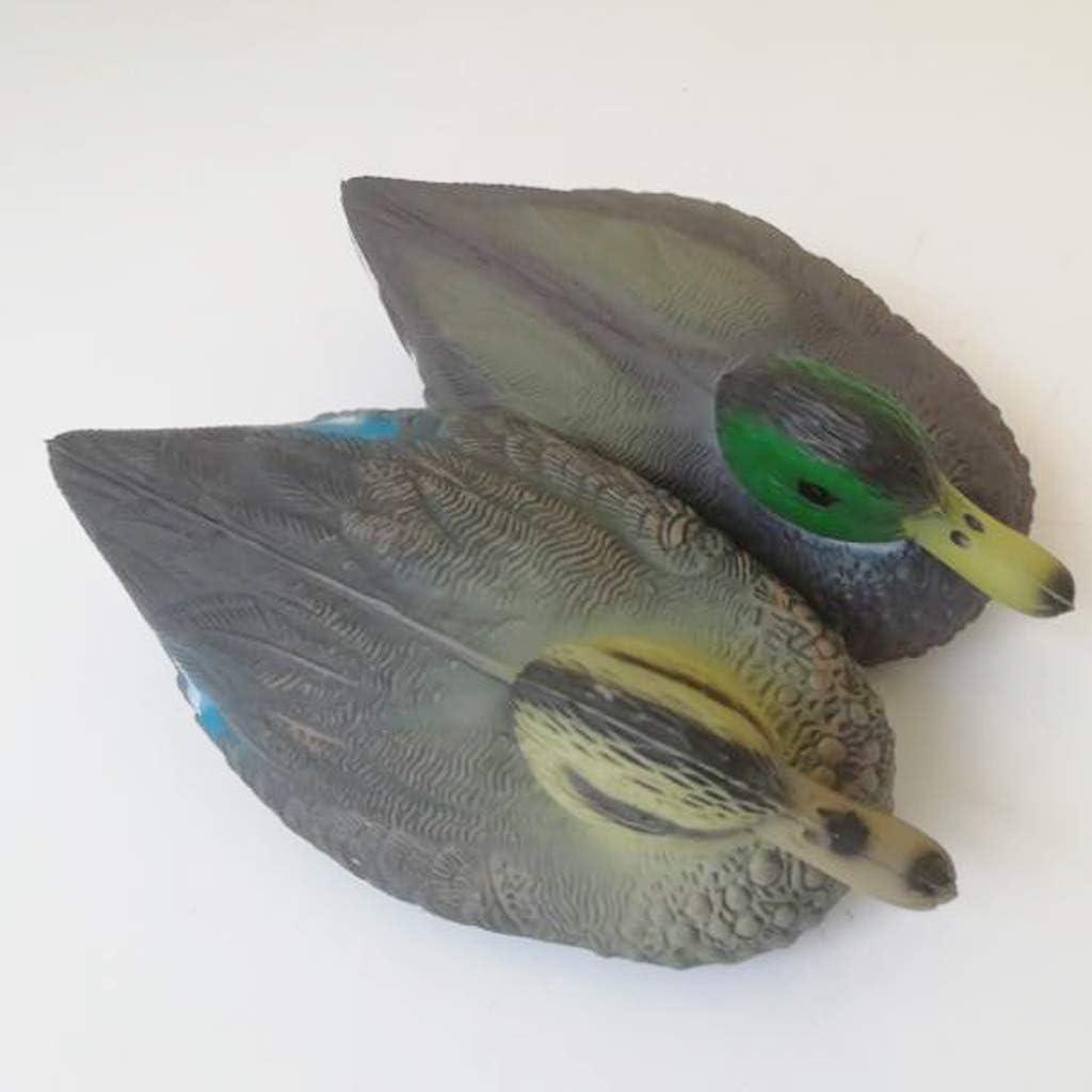 Bonarty Figurine Canard Flottant D/écor Jardin Leurre de P/êche Animal R/éaliste Canard Femelle