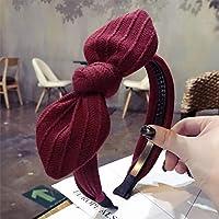 ヘアアクセサリー滑り止めのある歯付きの弓のヘアバンド女性の洗顔ヘアピンシンプルなティアラ頭の穴かわいい超かわいい甘い赤