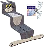 Cartoon Cat Rug for Stairs Staircase Flat Cat Room Rug Water Absorption Non Slip Super Soft Microfiber Entryway Doormat Shower Room Bathtub Side Carpet Restroom Home Indoor Entry Mat