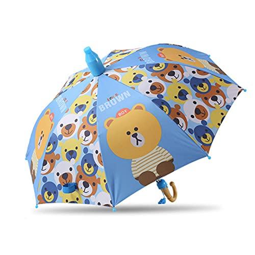 Paraguas Niños Preciosa Lluvia Sombrillas C Oon Paraguas Niños Rainbow Paraguas Semi Automático, C