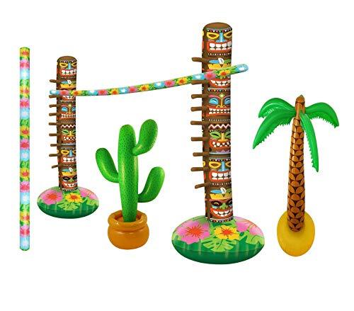Style Wise Fashion Aufblasbares Limbo-Spiel-Zubehör-Set für Erwachsene, Palme, Kaktus, Limbo-Stab Gr. onesize, Inflatable Beach Party Set