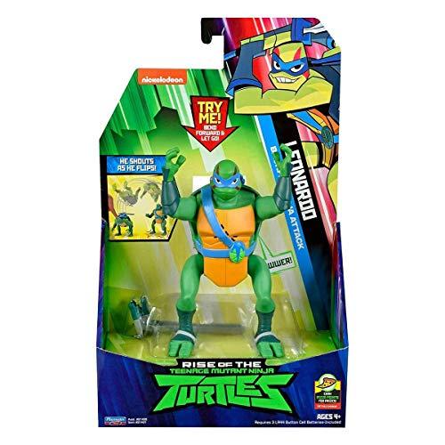 Product Image of the Rise of the Teenage Mutant Ninja Turtles Leonardo Backflip Ninja Attack Deluxe...