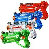 CSTAR Infrared Laser Tag Gun, Set of 4, Multiplayer/Multi-Team/Multi-Blaster Support, Up to 131