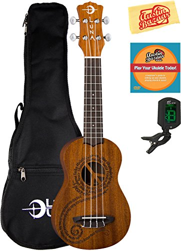 Luna Guitars Maluhia (Peace) Mahogany Soprano Ukulele