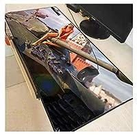 マウスパッド タンクワールドラージラバーキーボードパッドゲームマウスパッドロックエッジテーブルパッドPCラップトップ (サイズ_2)800×300×3mm