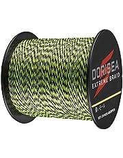 DORISEA Extrem fläta 100 % Pe 300 m/328 meter flätad fiskelina 6-500 pund test fisketråd fiske sträng-nötningsbeständig otrolig superline noll stretch liten diameter