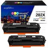 GPC Image Compatible Toner Cartridge Replacement for HP 202X 202A CF500X CF500A to use with Laserjet Pro MFP M281fdw M254dw M281cdw M281 M281dw M280nw Toner Printer(2 Black)