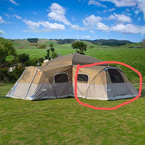 Mdsfe One bedroom outdoor folding living room outside the account, mountain camping, rainproof sunshade, UV protection tent-one extension tent,A2