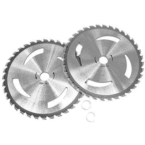 KIPA 2-Pack Brush Cutter Trimmer Blades Carbide Tip 9' Diameter 36 Tooth with 20mm Arbor Washer for Many Stihl Husqvarna Sears Echo Poluan Weed Eater Brusch Trimmer Durable (9' Diameter 36 T)