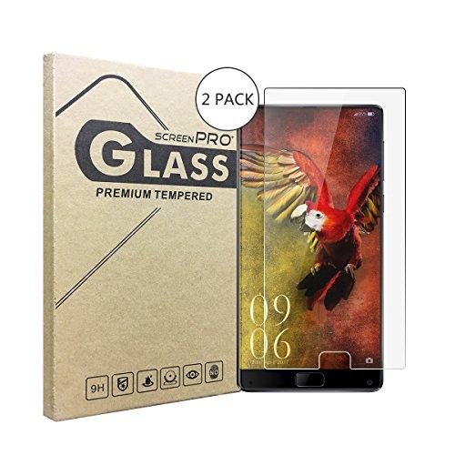 (2-Pack)Film Protection en Verre Trempé écran Protecteur Elephone S8,Anti rayures Sans bulles d'air 2.5D Bords Arrondis Anti-traces de Doigts,Haute-réponse Dureté 9H, Ultra-mince 0.3 mm
