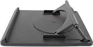 "Uncaged Ergonomics Swivel Laptop Stand: adjustable height rotating desktop computer riser for notebooks under 15"". Portabl..."