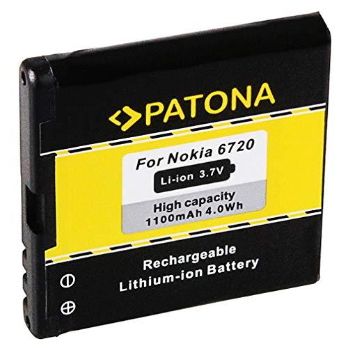 Batteria BP-6MT | BP6MT per Nokia E51 | E81 | N81 | N81-8GB | N82 | 6720 classic e più… [ Li-ion, 1100mAh, 3.7V ]