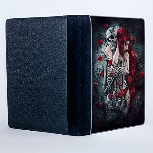 Cuaderno de composición B6, diseño gótico de mujer de pelo rojo cal